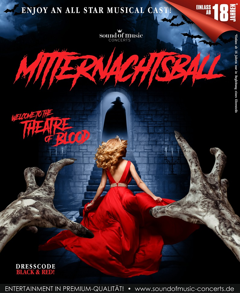 MITTERNACHTSBALL – WELCOME TO THE THEATRE OF BLOOD