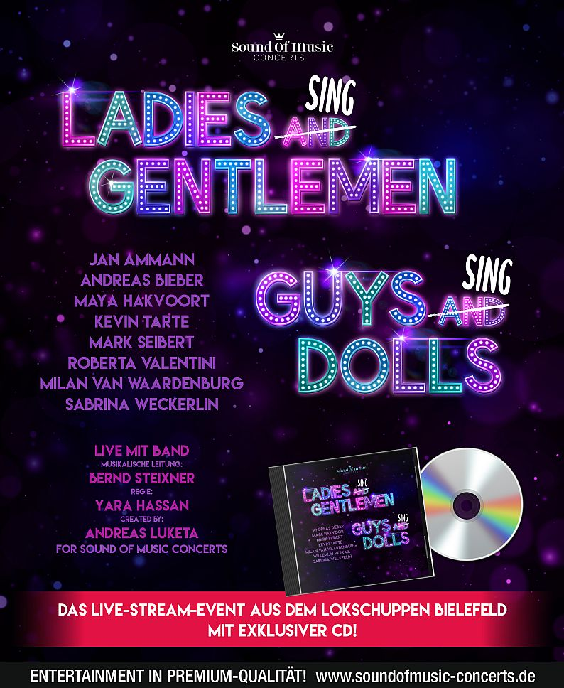LADIES SING GENTLEMEN – GUYS SING DOLLS – LIVESTREAM
